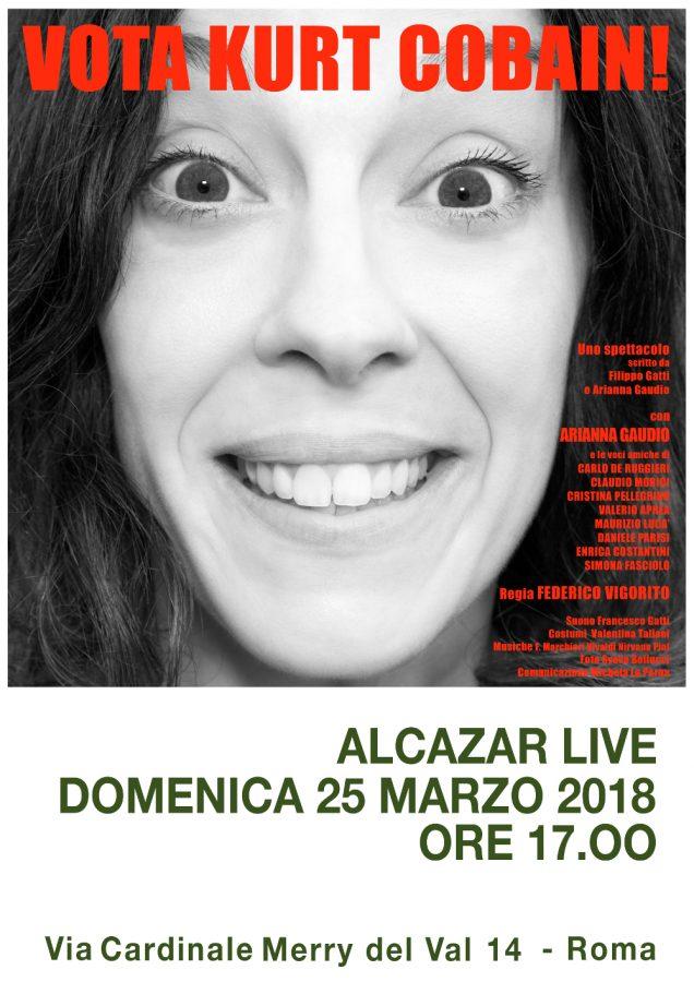 locandina-Alcazar Live Vota Kurt Cobain