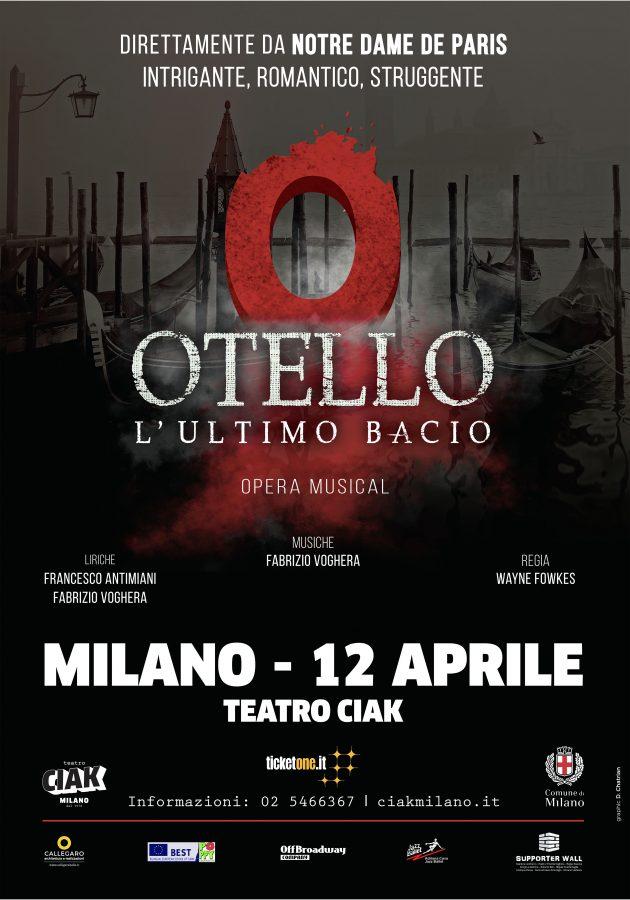 Al Teatro Ciak Milano Otello l'ultimo bacio Opera Musical -LOC