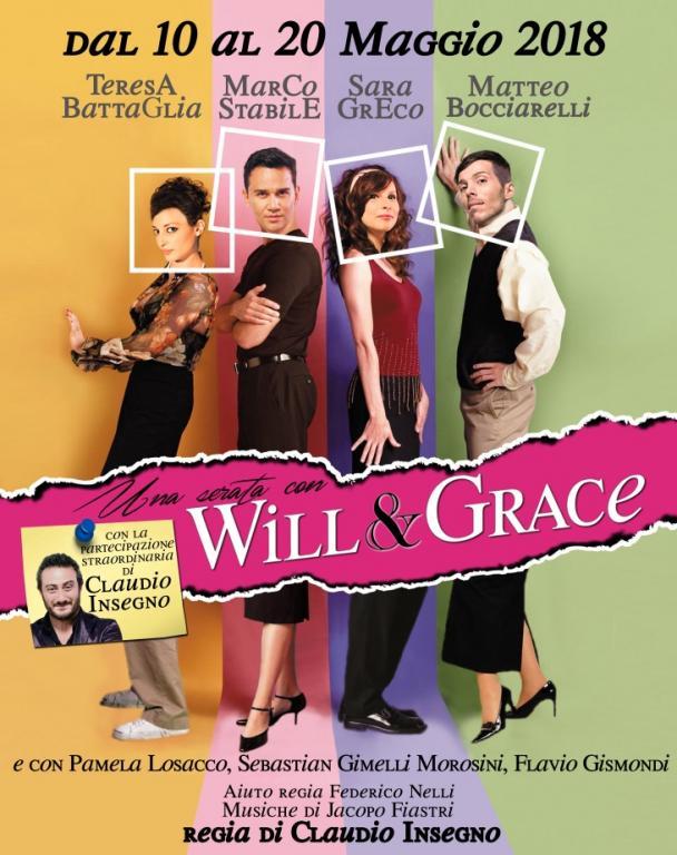 Una serata con Will & Grace al Teatro Marconi locandina
