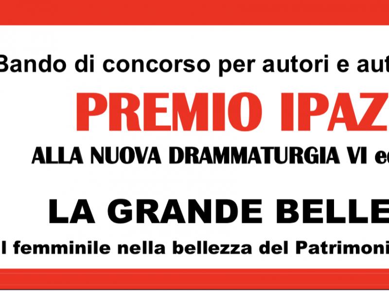 Bando Premio Ipazia Nuova Drammaturgia 2018