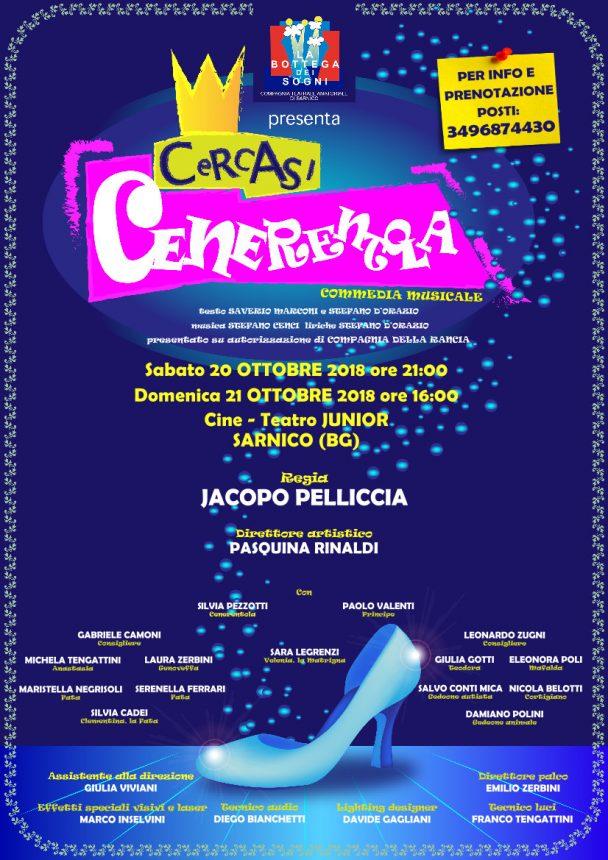 Jacopo Pelliccia dirige Cercasi Cenerentola il musical in scena a Sarnico