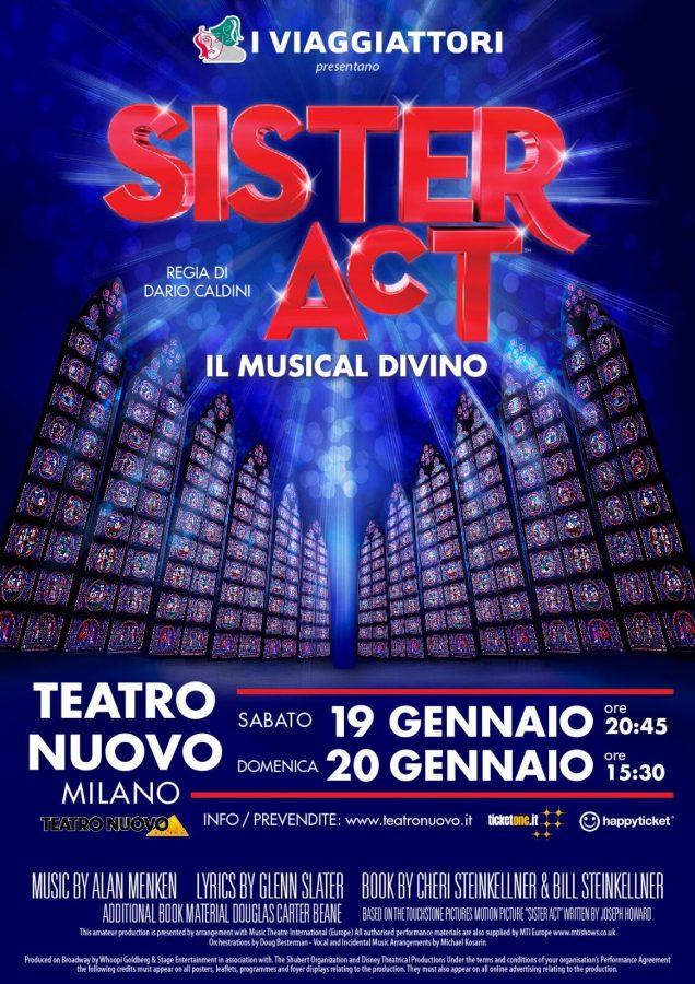 torna a Milano il musical Sister Act 2018 locandina milano 2019