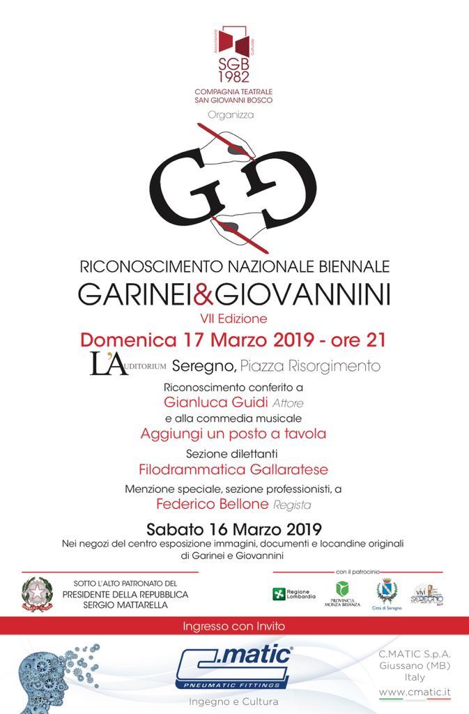 Locandina Riconoscimento Nazionale Biennale Garinei & Giovannini 2019-programma