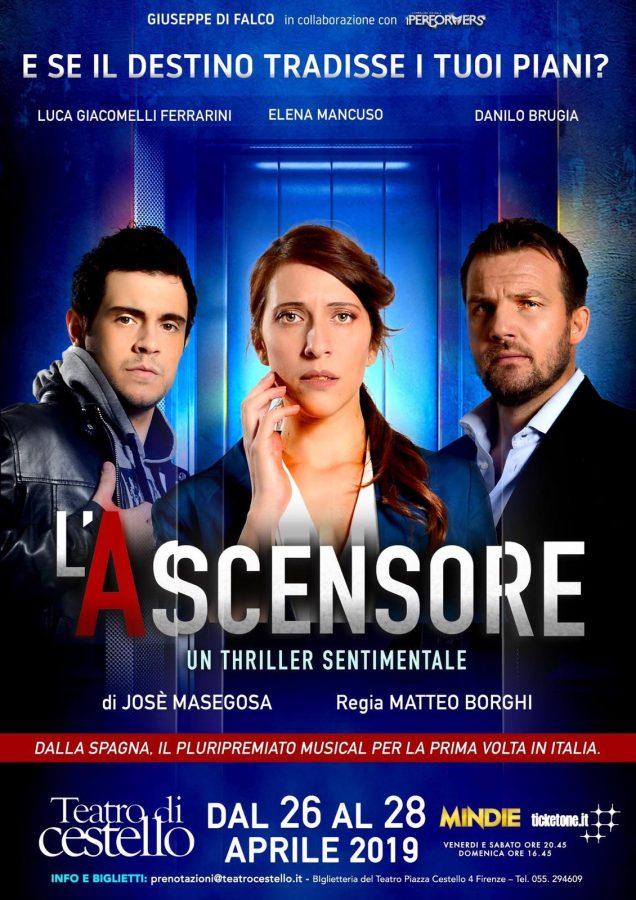 Debutto per L' Ascensore il thriller sentimentale locandina