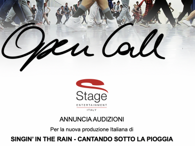 Bando Singin' in the Rain a Milano Produzione Stage Entertainment