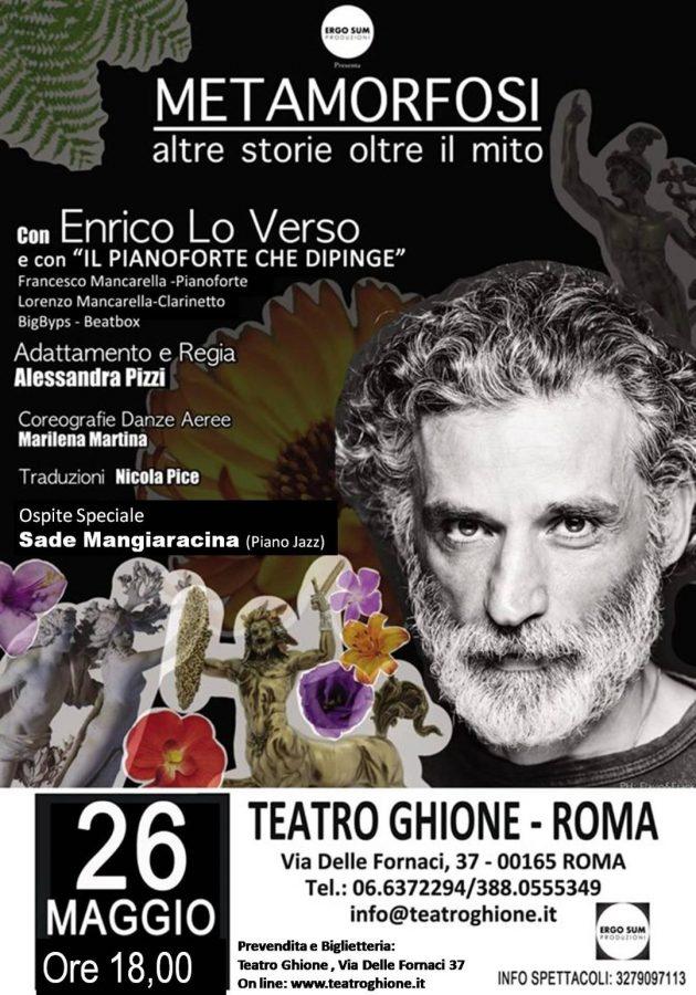 Enrico Lo Verso in Metamofosi – Altre Storie Oltre il Mito al al Teatro Ghione di Roma