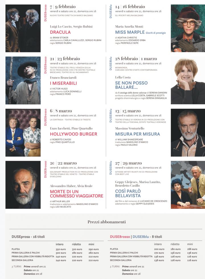 I Legnanesi Calendario 2020.Stagione Di Prosa 2019 2020 Del Teatro Duse Di Bologna