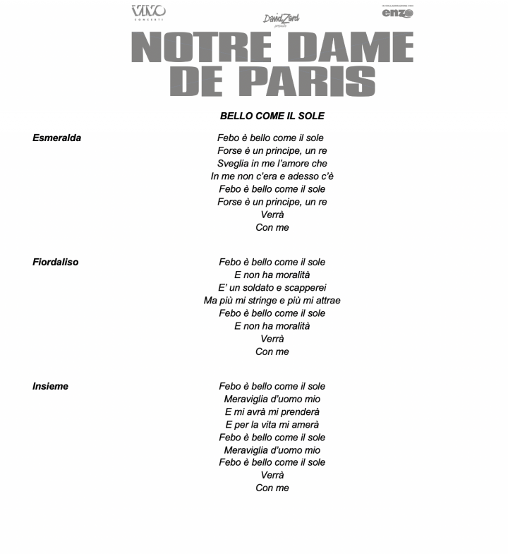 cast 2019-2020 di Notre Dame - il tempo delle cattedrali teso