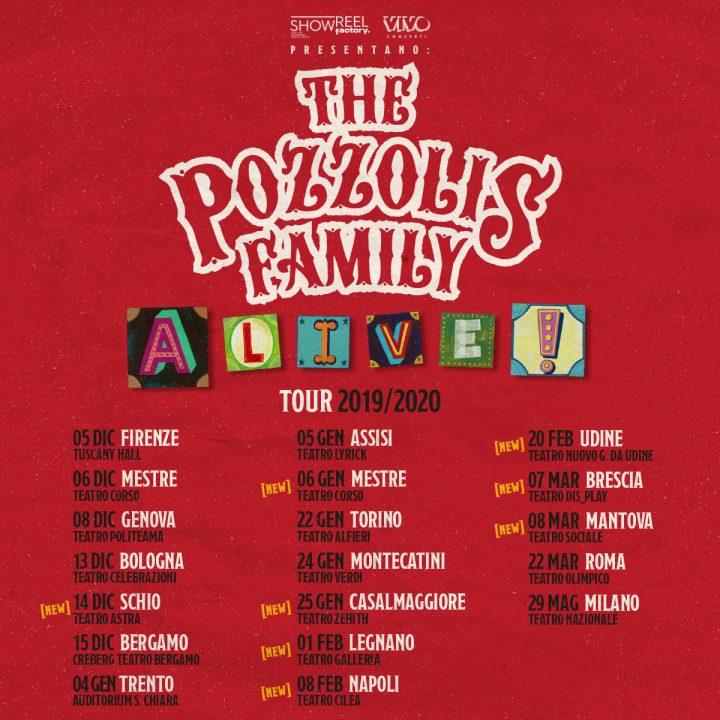 A-Live! 2019-20-Nuove date per lo show The Pozzolis Family