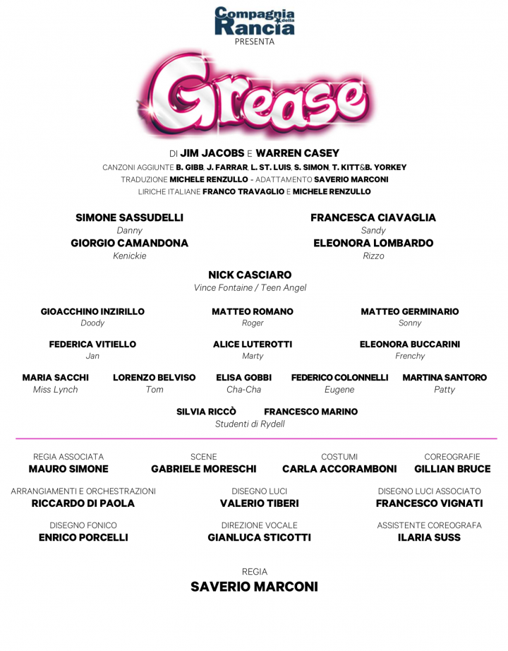 Grease Musical 2019 - 2020