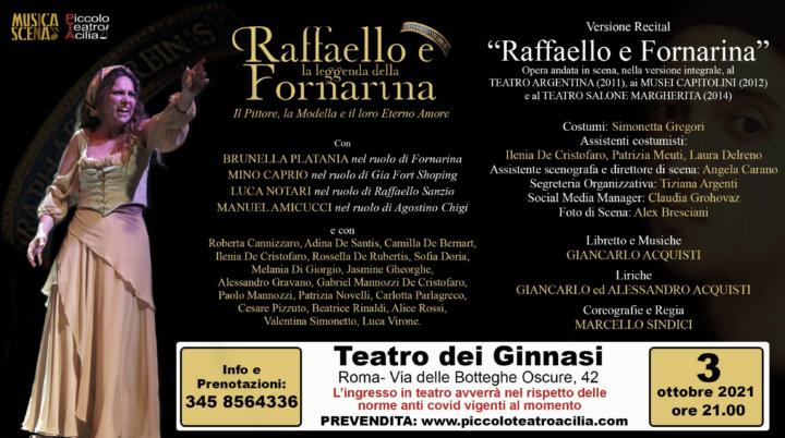 In scena la versione Recital Raffaello e Fornarina 2021 a Roma